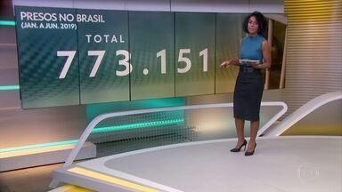 Brasil tem 773.151 presos, segundo o Departamento Penitenciário Nacional - População carcerária mais do que triplicou desde o ano 2000. Déficit também cresceu: faltam 312 mil vagas no sistema penitenciário.