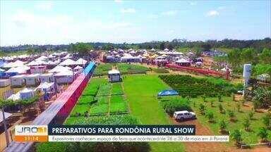 Expositores conhecem espaço da Rondônia Rural Show - Expositores conhecem espaço da Rondônia Rural Show