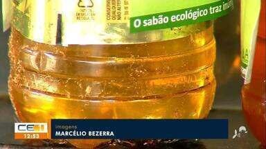 Projeto coleta óleo usado e para fazer doações à instituição social - Saiba mais no g1.com.br/ce