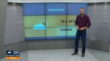 Confira a previsão do tempo para o fim de semana - Confira a previsão do tempo para o fim de semana
