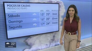 Confira a previsão do tempo para este sábado (15) no Sul de Minas - Confira a previsão do tempo para este sábado (15) no Sul de Minas