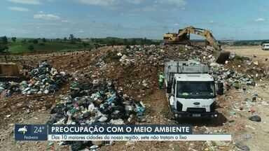 Relatório aponta que sete das 10 maiores cidades da região de Campinas não tratam lixo - Resíduos descartados poderiam ser reciclados ou usados na produção de adubo, mas acabam indo para o aterro sanitário.