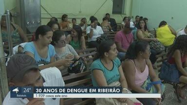 Primeiro caso de dengue completa 30 anos em Ribeirão Preto, SP - Durante o período, pelo menos 145 mil pessoas pegaram a doença na cidade.