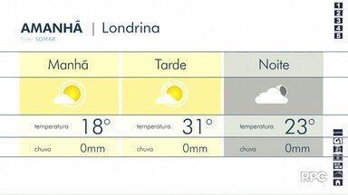 Sábado (15) terá tempo aberto no Paraná - Previsão aponta temperaturas altas durante à tarde e possibilidade de chuva apenas no litoral