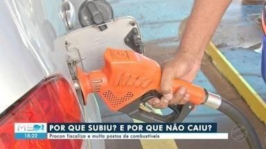 Procon fiscaliza postos de combustíveis - O ICMS está mais caro na gasolina e mais barato no etanol e o procon está de olho em abusos dos comerciantes