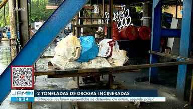 PF incinera mais de 2 toneladas de drogas apreendidas em operações em Tabatinga - Polícia Federal incinera mais de 2 toneladas de drogas apreendidas em operações em Tabatinga, no AM