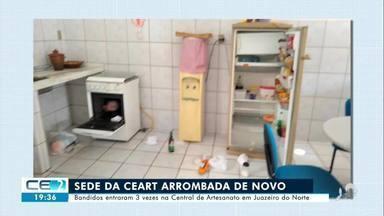 Sede da Central do Artesanato do Ceará em Juazeiro do Norte é arrombada três vezes - Confira mais notícias em g1.globo.com/ce