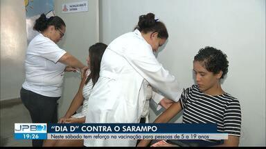 """JPB2JP: """"Dia D"""" da vacina contra o sarampo é neste sábado - Tem reforço na vacinação para pessoas de 5 a 19 anos."""