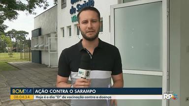 """Curitiba tem 17 locais com ações do Dia """"D"""" da vacina contra sarampo - Em todo o estado é dia de vacinação."""