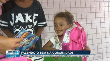 Moradores do Pedregal se uniram para doar material escolar para as crianças - Veja no quadro Exemplos do Bem.