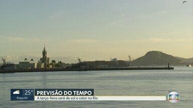 Confira a previsão do tempo para esta terça-feira (18) - Previsão de sol e calor no Rio. Temperatura podendo chegar aos 37°c.