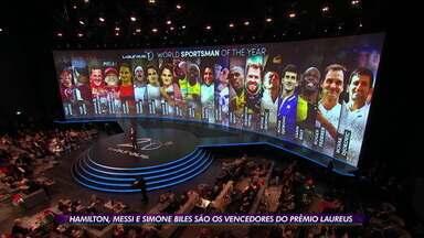 Simone Biles, Hamilton e Messi são vencedores e destaques no prêmio Laureus - Simone Biles, Hamilton e Messi são vencedores e destaques no prêmio Laureus