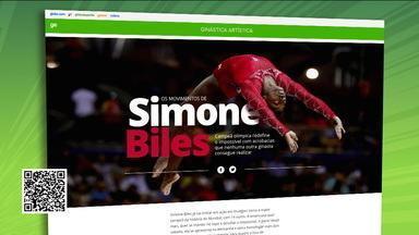 Com reportagem sobre Simone Biles, Globoesporte.com leva medalha de ouro em prêmio de design - Com reportagem sobre Simone Biles, Globoesporte.com leva medalha de ouro em prêmio de design