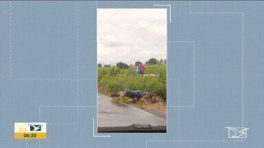 Acidente deixa um morto na MA-216 - Uma outra pessoa ficou gravemente ferida no acidente, na região da baixada maranhense.