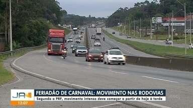 PRF estima que movimento nas rodovias seja intenso a partir de sexta (21) à tarde - PRF estima que movimento nas rodovias seja intenso a partir de sexta (21) à tarde
