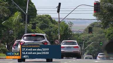 Multas de trânsito despencam em janeiro em Maringá - Notificações por excesso de velocidade caíram 39%