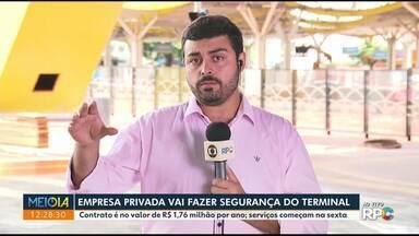 Empresa privada vai fazer segurança do terminal - Município vai pagar R$ 1,76 milhão pelo serviço.