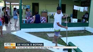 Turistas começam a deixar a ilha de Guriri após o carnaval - Turistas começam a deixar a ilha de Guriri após o carnaval.