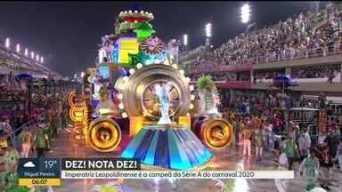Imperatriz é campeã da Série A e volta ao grupo especial em 2021 - A Imperatriz Leopoldinense é a campeã da Série A do carnaval do Rio. A escola levou para avenida o enredo 'Só dá Lalá'.