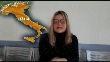 Brasileiros na Itália contam como epidemia do novo coronavírus afeta rotina - Moradores de diferentes cidades relatam falta de álcool gel e máscaras. Cafés, bibliotecas, cinemas, restaurantes e comércios estão fechados.