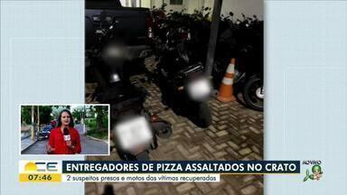 Entregadores de pizza são assaltados no Crato - Saiba mais em g1.com.br/ce