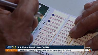 Mega-Sena sorteia prêmio de R$ 200 milhões - Homem que ganhou R$ 1 milhão na loteria de 1996 conta o que fez com o dinheiro.