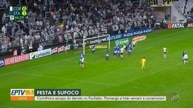 Corinthians escapa da derrota para o Santo André com gol nos acréscimos - Timão ficou no 1 a 1, em casa, em jogo pelo Paulistão. Na final da Recopa Sul-Americana, o Flamengo bateu o Independiente Del Valle e conquistou a taça.