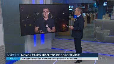 Ministério da Saúde diz que existem cinco casos suspeitos de coronavírus no Paraná - São três pacientes de Curitiba, um de Ponta Grossa e outro de São José dos Pinhais.