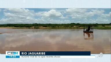 Aumenta nível do rio Jaguaribe após recentes chuvas - Confira mais notícias em g1.globo.com/ce
