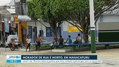 Morador de rua é morto em Manacapuru - Morador de rua é morto em Manacapuru