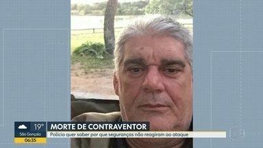 Polícia investiga reação dos seguranças de Alcebíades Garcia durante ataque - Perícia constatou que contraventor levou 22 tiros.