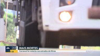 Número de mortes nas estradas de Minas durante carnaval aumenta em relação ao ano passado - O estado foi o segundo com mais vítimas e registrou quase 200 acidentes.
