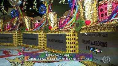 Canto da Alvorada celebra 17º título de campeã do carnaval de Belo Horizonte - Agremiação fez uma homenagem a Ronaldo Fraga.