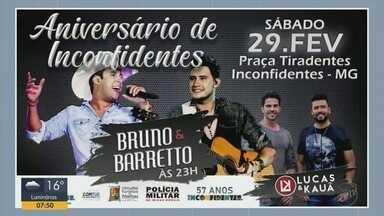 'Em Cartaz': Confira eventos do fim de semana no Sul de MG - Região tem shows e mais