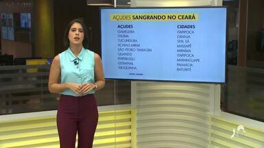 Nove açudes sangram no Ceará após chuvas - Saiba mais em g1.com.br/ce