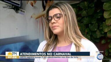 HRTN registra quase dois mil atendimentos no período de carnaval em Floriano - HRTN registra quase dois mil atendimentos no período de carnaval