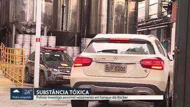 Polícia Civil volta à fábrica da Backer em BH nesta sexta-feira - Mais de 30 casos suspeitos de intoxicação por dietilenoglicol encontrado em cervejas da marca são investigados.