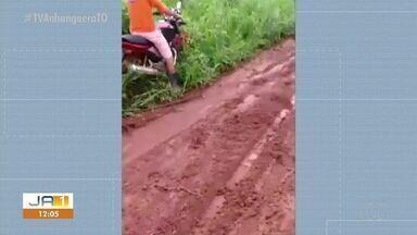 Motorista filma estrada precária em Nazaré, região do Bico do Papagaio - Motorista filma estrada precária em Nazaré, região do Bico do Papagaio