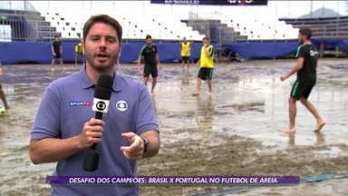 Desafio dos campeões: Brasil x Portugal no futebol de areia - Desafio dos campeões: Brasil x Portugal no futebol de areia