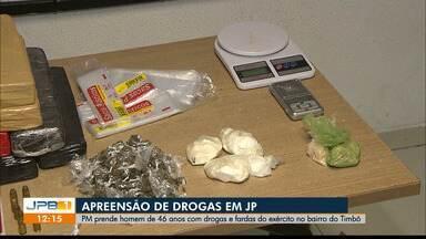 Polícia apreende drogas em João Pessoa - Caso aconteceu na comunidade do Timbó.