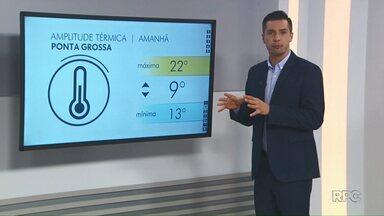 Confira a previsão do tempo para o começo da semana nos Campos Gerais - Há possibilidade de chuvas isoladas para Ponta Grossa até terça-feira.
