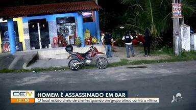 Homem é morto em bar no bairro Vila Velha - Saiba mais em g1.com.br/ce
