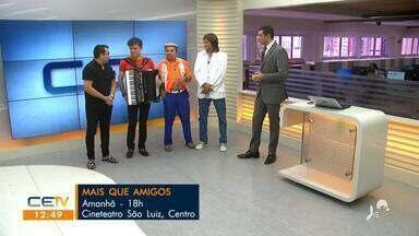 Humoristas se reúnem em show beneficente no Espetáculo Mais que Amigos - Saiba mais em g1.com.br/ce