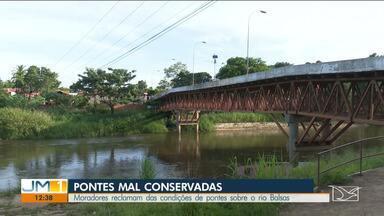 Moradores reclamam das condições de pontes sobre o rio Balsas - Moradores reclamam das condições de pontes sobre o rio Balsas