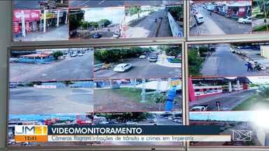 Câmeras flagram infrações de trânsito e crimes em Imperatriz - Um homem foi flagrado e preso após arrombar um açougue na Avenida Babaçulândia.