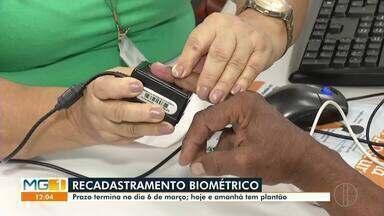 Cartório eleitoral faz plantão em Montes Claros - Plantão está sendo feito por conta do recadastramento biométrico, prazo termina em 6 de março.