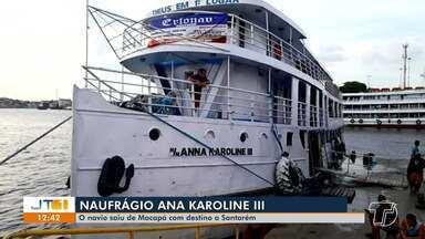Navio que faz a linha Macapá (AP)/Santarém (PA) naufraga em Laranjal do Jari, no Amapá - Segundo a Marinha do Brasil, uma pessoa morreu; ainda não há informações sobre o número de mortos e desaparecidos.