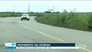 PRF registra aumento na movimentação de veículos na BR-135 em São Luís - Muitas pessoas estenderam a viagem de carnaval e só estão voltando nesses dias para casa.
