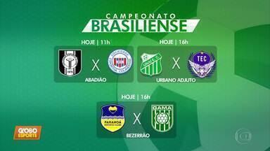 Veja os confrontos da 7ª rodada do Candangão - Três jogos sábado: Ceilândia X Ceilandense, Unaí X Taguatinga, Paranoá X Gama.Três jogos domingo: Capital X Luziânia, Real X Brasiliense, Sobradinho X Formosa.