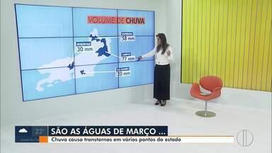 Chuva causa transtornos em vários pontos do Estado - No interior do Rio não para de chover desde o fim de semana.